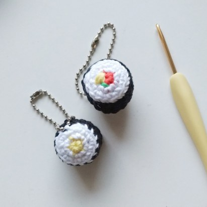Cute Crocheted Sushi Charms